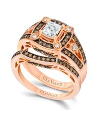 Le Vian - Pink Chocolate and White Diamond Engagement Ring Set in 14k Rose Gold 114 Ct Tw - Lyst
