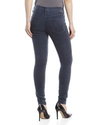 Mother - Blue The Looker High-Waist Corduroy Jeans - Lyst