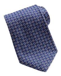 Ferragamo   Red Gancini Flower-Print Tie for Men   Lyst