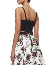 Phoebe Couture - Black Sweetheart-neck Beaded Crop Top - Lyst
