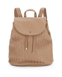 Deux Lux - Natural Wink Woven Front Flap Backpack - Lyst
