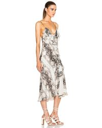 Haute Hippie - Multicolor Ruffled Asymmetrical Dress - Lyst
