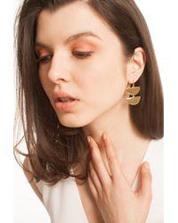 Trina Turk - Metallic Cresent Double Drop Earring - Lyst