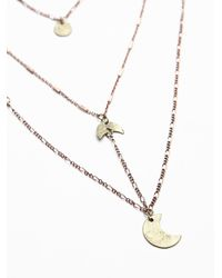 Free People - Pink Womens Waterfalls Necklace - Lyst