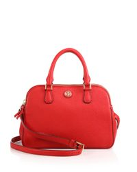 Tory Burch | Red Robinson Leather Satchel | Lyst