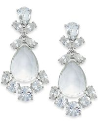 kate spade new york | Metallic Crystal Chandelier Earrings | Lyst