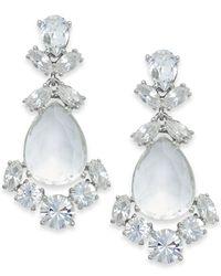 kate spade new york - Metallic Crystal Chandelier Earrings - Lyst