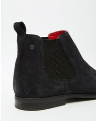 Base London - Blue William Suede Chelsea Boots for Men - Lyst