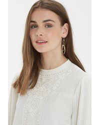 Oasis - Metallic Link Oval Drop Earring - Lyst