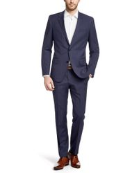 BOSS Black Two-piece Slim Fit Wool Suit for men