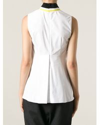 Marni - White Contrast Collar Blouse - Lyst