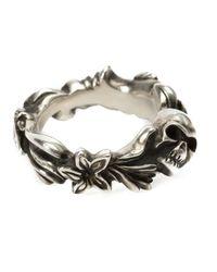 Werkstatt:münchen | Metallic Werkstatt:münchen Floral Skull Ring | Lyst