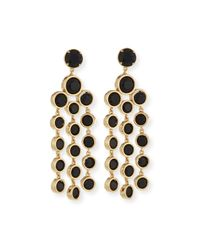 Kate Spade | Metallic Sparkle Chandelier Earrings | Lyst