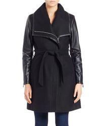 Dawn Levy | Black Winni Asymmetrical-zip Coat | Lyst