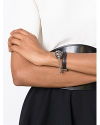 Alexander McQueen | Gray Harness Skull Bracelet | Lyst