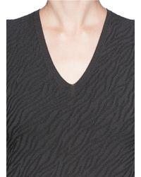 Armani - Gray Sleeveless Jacquard Knit Top - Lyst