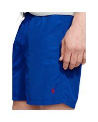 "Polo Ralph Lauren | Blue 6"" Solid Hawaiian Swim Trunk for Men | Lyst"