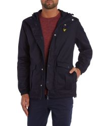 Lyle & Scott - Blue Microfleece Lined Full Zip Jacket for Men - Lyst
