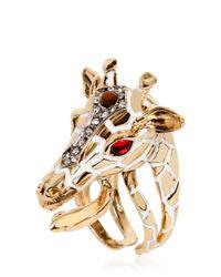 Roberto Cavalli - Metallic Giraffe Ring - Lyst