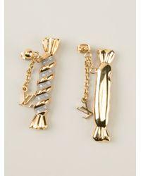Louis Vuitton | Metallic Drop Pendant Earrings | Lyst
