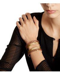 Tory Burch - Metallic Open Jeweled Metal Cuff - Lyst