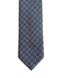Gucci - Blue Patterned Silk Tie for Men - Lyst