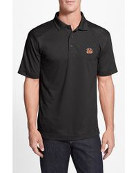 Cutter & Buck | Black 'cincinnati Bengals - Genre' Drytec Moisture Wicking Polo for Men | Lyst