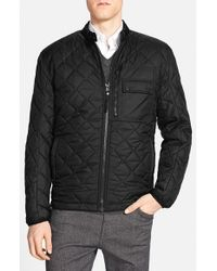 Andrew Marc - Black Marc New York By 'orchard' Quilted Jacket With Removable Faux Fur Lining for Men - Lyst
