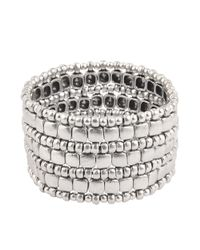 Philippe Audibert | Metallic Box 3 Triple Wrap Cuff | Lyst
