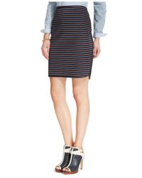 Tommy Hilfiger - Blue Ballard Stripe Pencil Skirt - Lyst