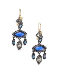 Alexis Bittar | Blue Elements Dark Alchemy Crystal Rocky Marquis Chandelier Earrings | Lyst