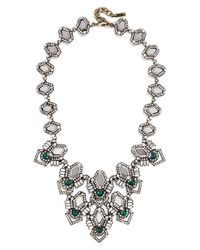 BaubleBar | Green 'deco Stone' Bib Necklace | Lyst