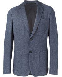 Z Zegna - Blue Two Button Blazer for Men - Lyst