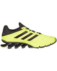 Adidas | Yellow Springblade Ignite Low-Top Running Sneakers for Men | Lyst