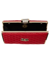 Love Moschino | Red I Love Superquilted Evening Clutch | Lyst