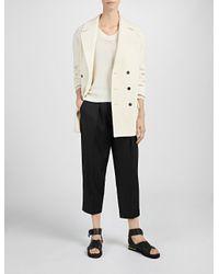 JOSEPH - White Brushed Cotton Coat Jean Coat - Lyst