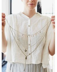 Free People - Pink Womens Cherish 3 Chain Necklace - Lyst