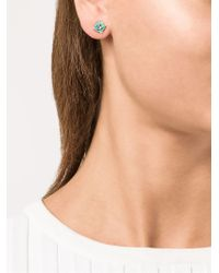 Vivienne Westwood - Blue Small Orbit Earrings - Lyst