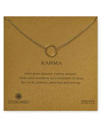 "Dogeared - Metallic Karma Double Chain Necklace, 16"" - Lyst"