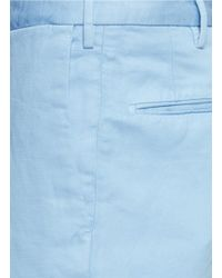 Incotex - Blue Cotton-linen Chinos for Men - Lyst