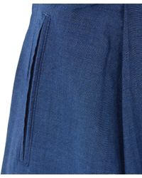 Folk - Blue Chambray Cotton-blend Culottes - Lyst
