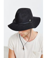 Coal - Black Lee Raw Edge Web Fedora for Men - Lyst