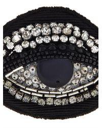 N°21 - Black Eye Crystal-Embellished Brooch - Lyst