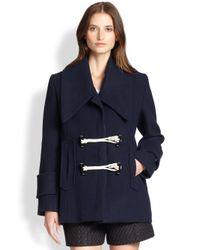 Carven - Blue Toggle Coat - Lyst