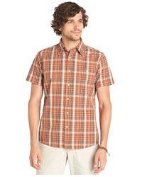 G.H. Bass & Co. - Brown Cascade Plaid Poplin Short Sleeve Shirt for Men - Lyst