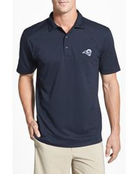 Cutter & Buck - Blue 'los Angeles Rams - Genre' Drytec Moisture Wicking Polo for Men - Lyst