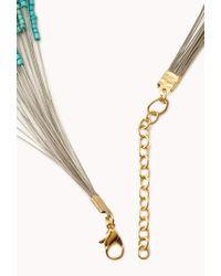 Forever 21 - Blue Boho Doll Beaded Necklace - Lyst