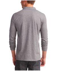 BOSS Orange | Gray Long-sleeved Polo Shirt 'patcherman' In Cotton for Men | Lyst