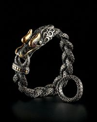 John Hardy | Metallic Men's Naga Braided Dragon Head Bracelet With Ruby for Men | Lyst