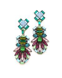 DANNIJO - Green Barney Earrings - Lyst